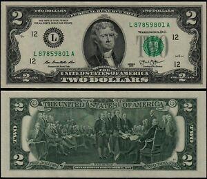 USA 2 DOLLARS (P538) 2013 L SAN FRANCISCO UNC