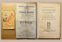 Leoncavallo Der Bajazzo Drama Oper + Plakat Sächsischses Staatstheater 1924 xz