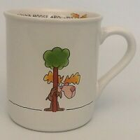 Hallmark Wanna Moose Around Coffee Tea Mug Cup Rim Shots 1986 Japan