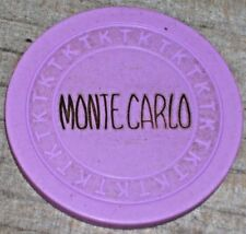 N/D 4TH EDITION 1953 GAMING CHIP FROM THE MONTE CARLO CLUB CASINO. LAS VEGAS R8