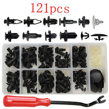121pcs Car Body Plastic Push Pin Clips Fender Bumper Fasteners Rivet Screwdriver