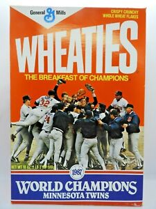 1987 Minnesota Twins World Series Champions Wheaties Cereal Box