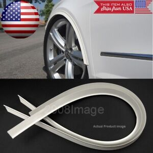 "2 Pieces 47"" White Arch Wide Body Fender Flares Extension Lip For  Toyota Scion"