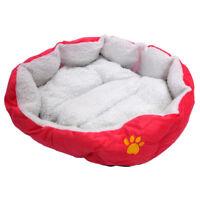 Letto casa divano unico per gatto cane animale domestico con cuscino rosa G4H8