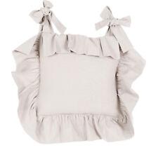 Blanc Mariclo Basic Sand Stuhlkissenbezug Shabby chic Landhaus Vintage Volant