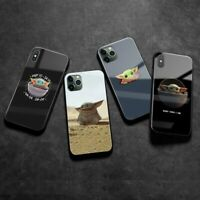 Baby yoda meme cute soft silicone tempered glass Phone case iPhone 6s 7 8 XS 11