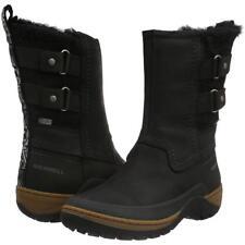 Merrell Women's Sylva Mid Buckle Waterproof Black Winter Boot 5M