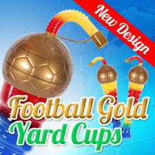 New! Gold Football Yard Cups Slush Slushy Mix - 350ml 11,8oz [1 Box 147 pcs]