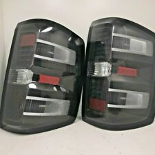 .For Chevy Silverado 1500 14-18 LED BLACK REPLACEMEN TAIL LIGHTS  GM630-UUWE2-BH