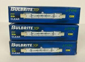 3 New Bulbrite XP J-Type Halogen Lamps Clear 120V 601075 Q75T3/S