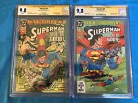 Superman #82 Collectors and Reg set - DC - CGC SS 9.8 NM/MT - Signed by Breeding