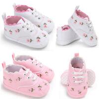 Bebé Recién Nacido de Niña Andador Suela Blanda Antideslizante Zapatos Trainers