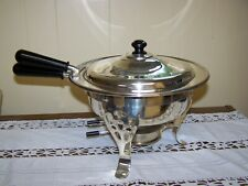 Vintage Chafing Dish-Double Boiler-Silver Plate(?) - Complete-Japan-Very Attract