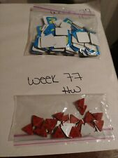 Scrabble Junior Board Game REPLACEMENT Letter Tiles & Scoring Chips ONLY