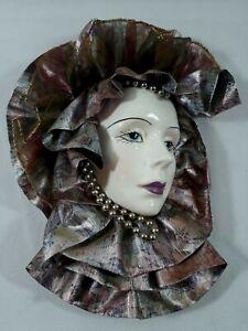 Vintage Rare Resin Mardi Gra Mask Decoration Hand Painted