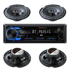 Nakamichi Bluetooth USB, MP3 Media Receiver with 2 Pairs 6-1/2″ Coaxial Speakers
