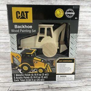 CAT Backhoe Wood Painting Set