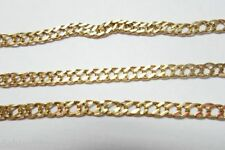"18k 750 Yellow Gold 19"" Fancy Cuban Curb Chain Necklace 5.2g Italy *61 VI"