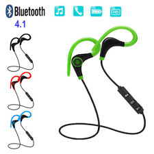 Sweatproof Wireless Bluetooth Earphone Headphones Sport Gym Headset Earbuds -IB