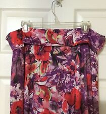 Lularoe Maxi Skirt Purple Hot Pink Roses Flowers New Without Tags 3XL XXL