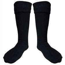 Lot of 12 Scottish Kilt Hose Socks Highland Wear Kilt Accessories BLACK/WHITE