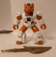 Battle Beasts Sly Fox with Weapon and Working Rub (Fire)