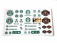 STICKERS for CUSTOM LEGO Starbucks BUILDS, Toys, Etc ( 3438 McDonald size)
