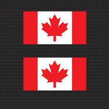 "2x Canadian Flag 4"" Sticker Die Cut Decal graphic canada"