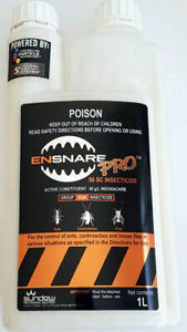 Ensnare Pro SC (indoxacarb) -invisible barrier pest control - makes up to 100L