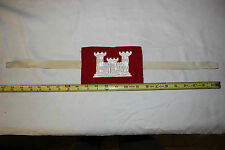 US Military WW2 Army Embroidered U.S. Army Corps Of Engineers Arm Band. RARE!