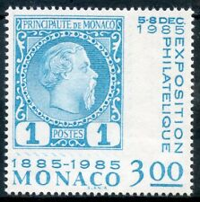 TIMBRE DE MONACO N° 1458 ** CENTENAIRE DU 1° TIMBRE N°1 DE 1885 / EXPOSITION