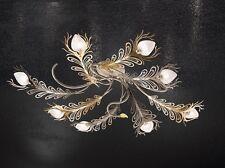 Plafoniera classica di design nichel e oro coll. BELL musa 1812/PL8L