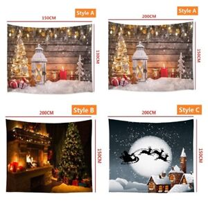 Christmas Tapestry Wall Hanging Background Cloth Wall Carpet Xmas Home Decor UK