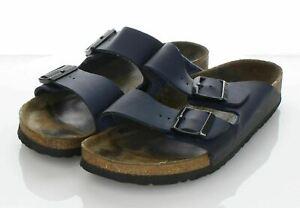 19-14 $100 Women's Sz 11 N Birkenstock Arizona Birko-Flor Hard Footbed Sandal In