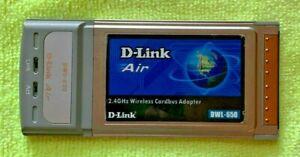 D-Link Air DWL-650 2.4GHz Wireless Cardbus Adapter