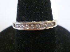 Estate .50ct Diamond 14k White Gold Wedding Band Ring w/ Hearts size 6.75