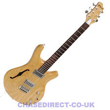 SHINE Electric Guitar SIL410 F Hole Humbucker Grover Tuners Natural Colour Y20