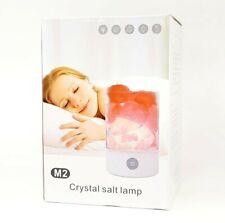 Crystal Light Natural Himalayan Salt Lamp LED Stone Negative Ion Air Purifier