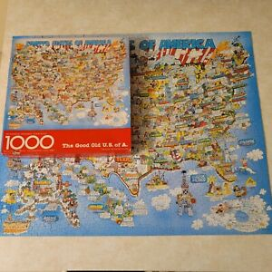 Vintage Springbok The Good Old U.S. of A. United States Map 1000-Piece Puzzle