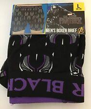 MEN'S MARVEL BLACK PANTHER LARGE BOXER BRIEF 36 - 38