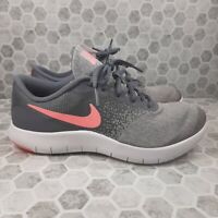 Nike Flex Contact Running Shoes Sneakers Size 6Y 917937-003 Grey Pink!