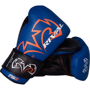 Rival Boxing Evolution Hook and Loop Sparring Gloves - Blue
