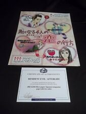 RESIDENT EVIL: AFTERLIFE HERO JAPANESE ANIME MAGAZINE PAGE MOVIE PROP+ COA