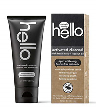 Hello Oral Care Activated Charcoal Teeth Whitening Fluoride Free Toothpaste 4 Oz