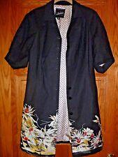Kinder Aggugini  Black floral smock dress coat Size XS   Macy's