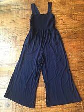 LOFT Women's Navy Jumpsuit Size Medium Rayon Blend
