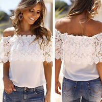 Fashion Ladies Summer Lace Vest Top Sleeveless Casual Tank Blouse Tops T-Shirt