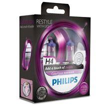 H4 Philips ColorVision Purple 60/55W 12V Lampadine Fari Alogeni 12342CVPPS2 Set