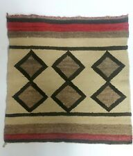 Vintage Mexico Folk Hand Woven Striped Wool Tapestry