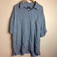 Hawaiian Moon Men Size 2XL Plus 100% Rayon Made In Hawaii Short Sleeve Shirt